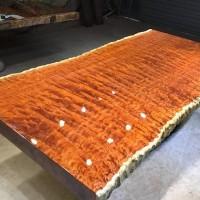 巴花实木大板办公桌书桌会议桌茶桌电脑桌红木家具大班台