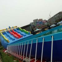 华津气模1米高支架水池生产定做pvc夹网布1.32米1.5米高移动水池