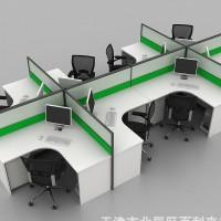 K30+K60厚薄结合屏风办公桌 白绿搭配办公桌隔断 办公屏
